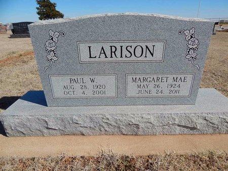 LARISON, PAUL W - Woods County, Oklahoma | PAUL W LARISON - Oklahoma Gravestone Photos