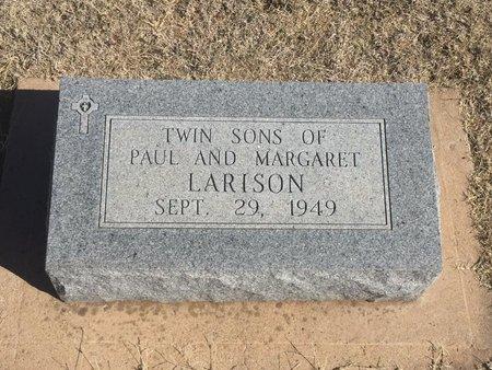 LARISON, TWIN SONS - Woods County, Oklahoma | TWIN SONS LARISON - Oklahoma Gravestone Photos