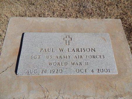 LARISON (VETERAN WWII), PAUL W - Woods County, Oklahoma   PAUL W LARISON (VETERAN WWII) - Oklahoma Gravestone Photos