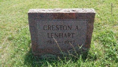 LENHART, CRESTON A - Woods County, Oklahoma   CRESTON A LENHART - Oklahoma Gravestone Photos