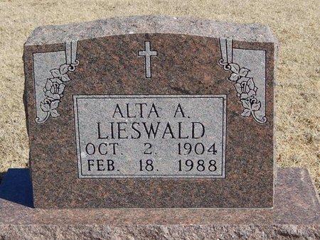 LIESWALD, ALTA A - Woods County, Oklahoma   ALTA A LIESWALD - Oklahoma Gravestone Photos