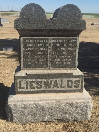 LIESWALD, LOUISE - Woods County, Oklahoma | LOUISE LIESWALD - Oklahoma Gravestone Photos