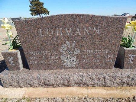 LOHMANN, AUGUSTA S - Woods County, Oklahoma | AUGUSTA S LOHMANN - Oklahoma Gravestone Photos