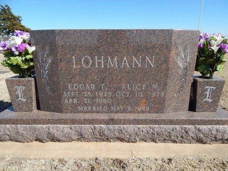 LOHMANN, EDGAR T - Woods County, Oklahoma   EDGAR T LOHMANN - Oklahoma Gravestone Photos