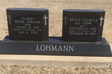 LOHMANN, GILBERT PETER JOHANN - Woods County, Oklahoma | GILBERT PETER JOHANN LOHMANN - Oklahoma Gravestone Photos