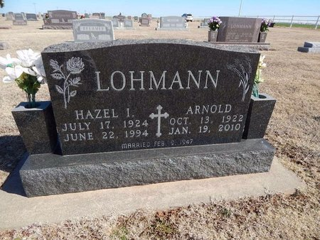 LOHMANN, HAZEL I - Woods County, Oklahoma   HAZEL I LOHMANN - Oklahoma Gravestone Photos