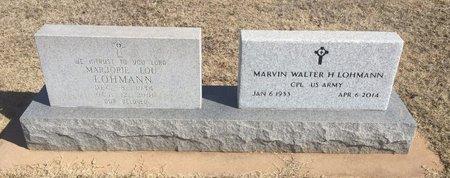 LOHMANN, MARJORIE LOU - Woods County, Oklahoma | MARJORIE LOU LOHMANN - Oklahoma Gravestone Photos