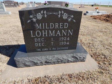 LOHMANN, MILDRED - Woods County, Oklahoma | MILDRED LOHMANN - Oklahoma Gravestone Photos