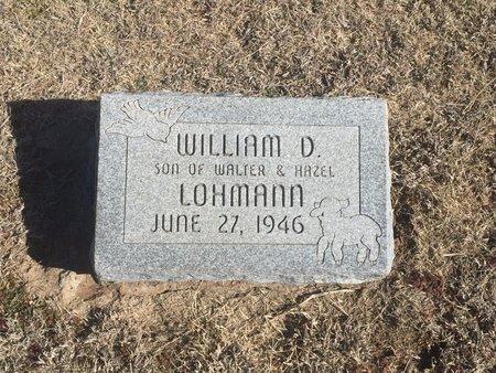 LOHMANN, WILLIAM D - Woods County, Oklahoma   WILLIAM D LOHMANN - Oklahoma Gravestone Photos