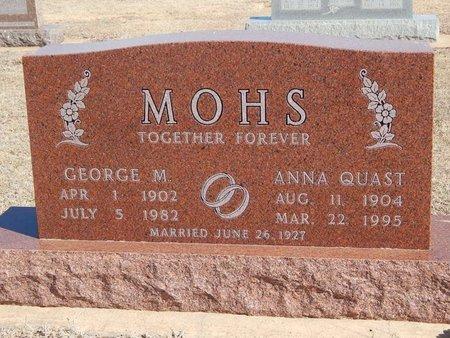 MOHS, ANNA - Woods County, Oklahoma | ANNA MOHS - Oklahoma Gravestone Photos