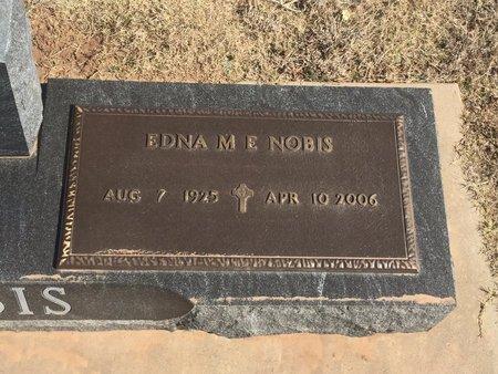 NOBIS, EDNA M E (CLOSE-UP) - Woods County, Oklahoma   EDNA M E (CLOSE-UP) NOBIS - Oklahoma Gravestone Photos
