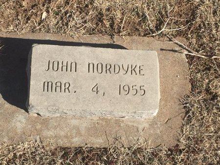 NORDYKE, JOHN - Woods County, Oklahoma   JOHN NORDYKE - Oklahoma Gravestone Photos