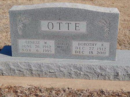 OTTE, DOROTHY K - Woods County, Oklahoma   DOROTHY K OTTE - Oklahoma Gravestone Photos