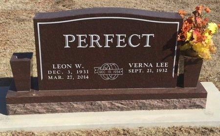 PERFECT, LEON W - Woods County, Oklahoma | LEON W PERFECT - Oklahoma Gravestone Photos