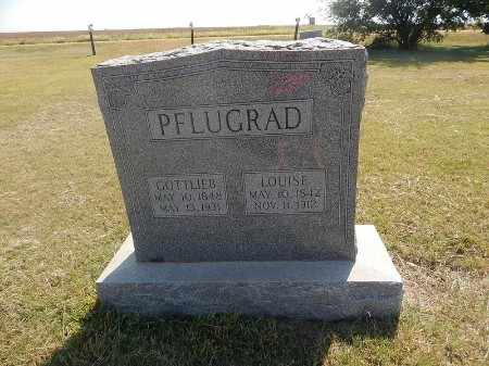LINK PFLUGRAD, LOUISE - Woods County, Oklahoma | LOUISE LINK PFLUGRAD - Oklahoma Gravestone Photos