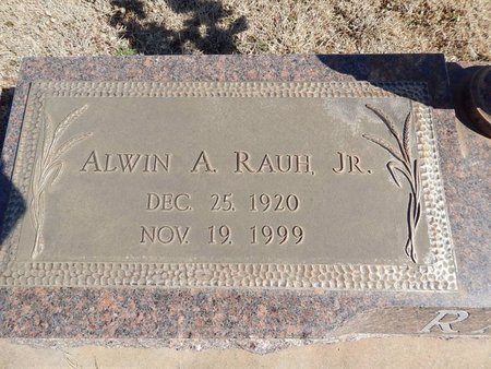 RAUH, ALWIN A JR - Woods County, Oklahoma | ALWIN A JR RAUH - Oklahoma Gravestone Photos