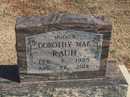 RAUH, DOROTHY MAE - Woods County, Oklahoma | DOROTHY MAE RAUH - Oklahoma Gravestone Photos