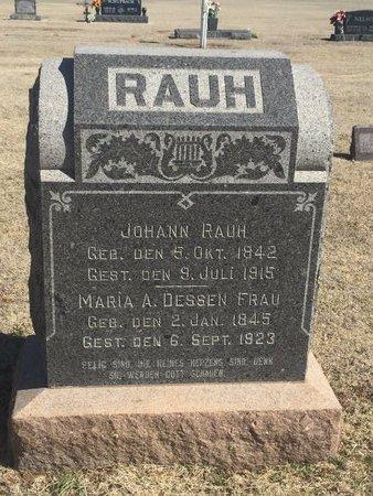 DESSEN RAUH, MARIA A - Woods County, Oklahoma | MARIA A DESSEN RAUH - Oklahoma Gravestone Photos