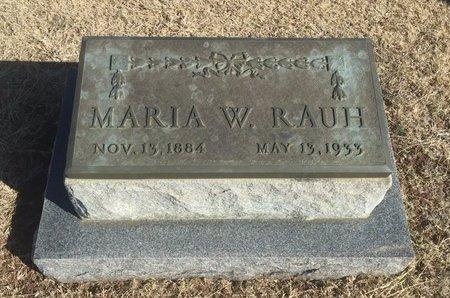 RAUH, MARIA W - Woods County, Oklahoma | MARIA W RAUH - Oklahoma Gravestone Photos