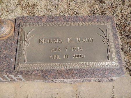 RAUH, NORMA K - Woods County, Oklahoma | NORMA K RAUH - Oklahoma Gravestone Photos