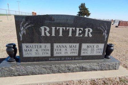 RITTER, MAX D - Woods County, Oklahoma | MAX D RITTER - Oklahoma Gravestone Photos
