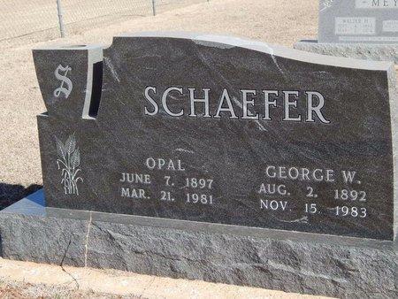 SCHAEFER, GEORGE W - Woods County, Oklahoma   GEORGE W SCHAEFER - Oklahoma Gravestone Photos