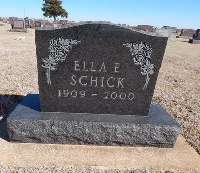 SCHICK, ELLA E - Woods County, Oklahoma   ELLA E SCHICK - Oklahoma Gravestone Photos
