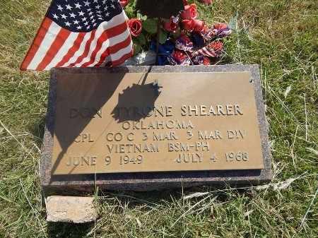 SHEARER (VETERAN VIET), DON TYRONE - Woods County, Oklahoma | DON TYRONE SHEARER (VETERAN VIET) - Oklahoma Gravestone Photos