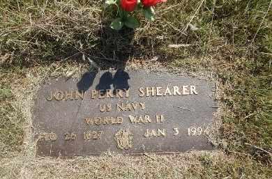 SHEARER (VETERAN WWII), JOHN PERRY - Woods County, Oklahoma   JOHN PERRY SHEARER (VETERAN WWII) - Oklahoma Gravestone Photos