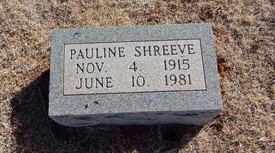 SHREEVE, PAULINE - Woods County, Oklahoma | PAULINE SHREEVE - Oklahoma Gravestone Photos