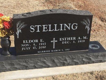 STELLING, ELDOR E - Woods County, Oklahoma   ELDOR E STELLING - Oklahoma Gravestone Photos