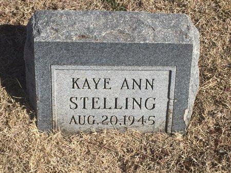 STELLING, KAYE ANN - Woods County, Oklahoma | KAYE ANN STELLING - Oklahoma Gravestone Photos