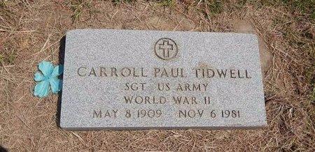 TIDWELL (VETERAN WWII), CARROLL PAUL - Woods County, Oklahoma | CARROLL PAUL TIDWELL (VETERAN WWII) - Oklahoma Gravestone Photos