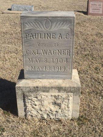 WAGNER, PAULINE A C - Woods County, Oklahoma | PAULINE A C WAGNER - Oklahoma Gravestone Photos