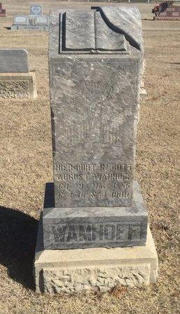 WAMHOFF, AUGUST - Woods County, Oklahoma   AUGUST WAMHOFF - Oklahoma Gravestone Photos