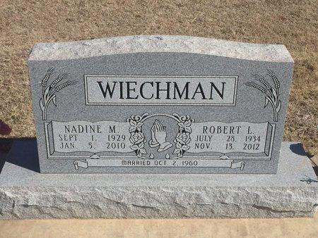WIECHMAN, NADINE M - Woods County, Oklahoma   NADINE M WIECHMAN - Oklahoma Gravestone Photos