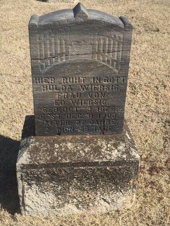WIERSIG, HULDA - Woods County, Oklahoma   HULDA WIERSIG - Oklahoma Gravestone Photos