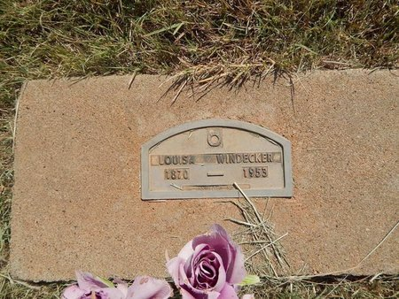 WINDECKER, LOUISA - Woods County, Oklahoma | LOUISA WINDECKER - Oklahoma Gravestone Photos