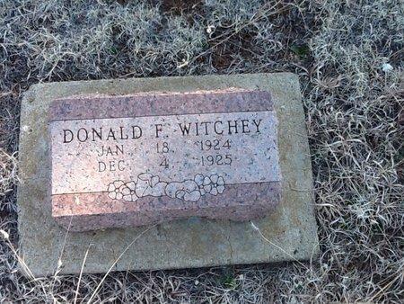 WITCHEY, DONALD F - Woods County, Oklahoma   DONALD F WITCHEY - Oklahoma Gravestone Photos