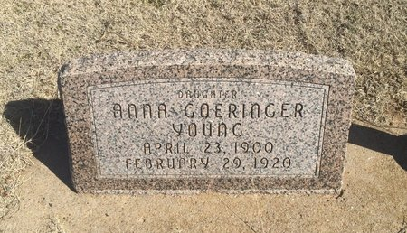 GOERINGER YOUNG, ANNA - Woods County, Oklahoma | ANNA GOERINGER YOUNG - Oklahoma Gravestone Photos
