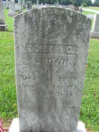 BROWN, JOHN O, - Adams County, Pennsylvania | JOHN O, BROWN - Pennsylvania Gravestone Photos