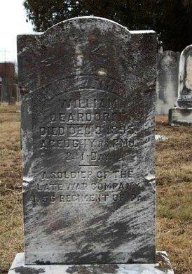 DEARDORFF (CW), WILLIAM - Adams County, Pennsylvania   WILLIAM DEARDORFF (CW) - Pennsylvania Gravestone Photos