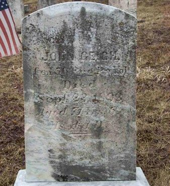 GEIGH (CW), JOHN - Adams County, Pennsylvania | JOHN GEIGH (CW) - Pennsylvania Gravestone Photos