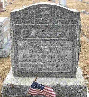GLASSICK (CW), AMOS S. - Adams County, Pennsylvania   AMOS S. GLASSICK (CW) - Pennsylvania Gravestone Photos