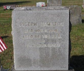 HAMILTON (CW), JOSEPH - Adams County, Pennsylvania | JOSEPH HAMILTON (CW) - Pennsylvania Gravestone Photos