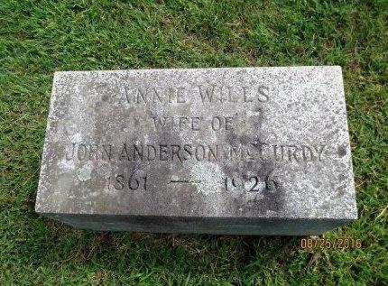 MCCURDY, ANNIE - Adams County, Pennsylvania   ANNIE MCCURDY - Pennsylvania Gravestone Photos