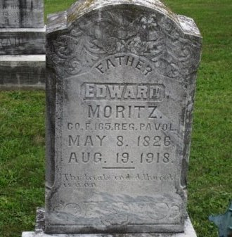 MORITZ (CW), EDWARD - Adams County, Pennsylvania | EDWARD MORITZ (CW) - Pennsylvania Gravestone Photos