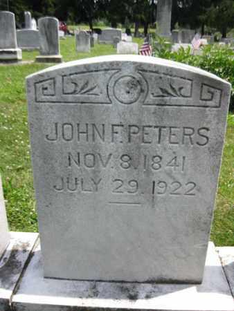 PETERS (CW), JOHN F. - Adams County, Pennsylvania | JOHN F. PETERS (CW) - Pennsylvania Gravestone Photos