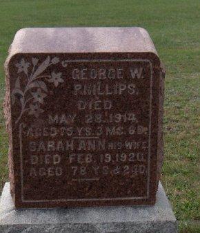 PHILLIPS (CW), GEORGE W. - Adams County, Pennsylvania   GEORGE W. PHILLIPS (CW) - Pennsylvania Gravestone Photos