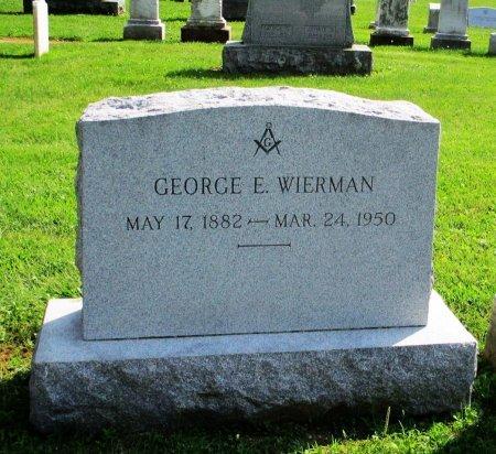 WIERMAN, GEORGE E. - Adams County, Pennsylvania | GEORGE E. WIERMAN - Pennsylvania Gravestone Photos